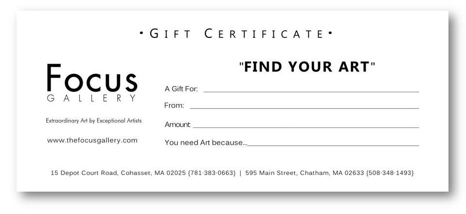 Gift Certificates Wedding Registry FOCUS Gallery