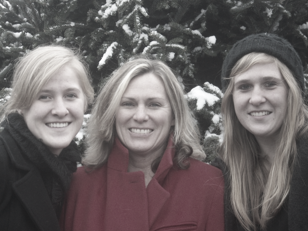 Pictured here are my sisters and mom (a.k.a Santa).