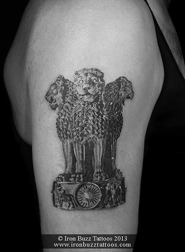 Indian National Emblem tattoo