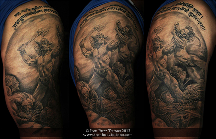 Frank_Frazetta_painting_on_arm_black_and_grey_tattoo_best_design_for_men_and_women_by_artist_eric_dsouza_at_iron_buzz_tattoos_and_piercing_versova_andheri_mumbai.jpg
