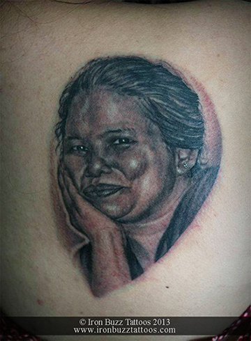 Mother Portrait Tattoo
