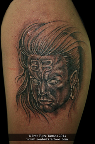 Angry Lord Shiva tattoo