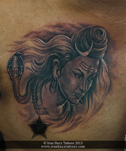Lord Shiva portrait tattoo