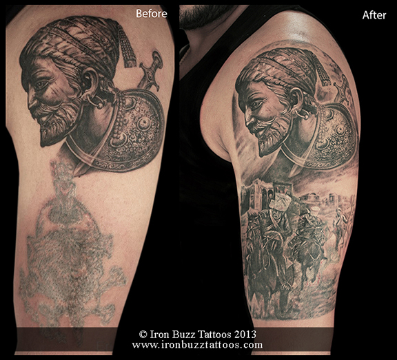 Shivaji Maharaj tattoo