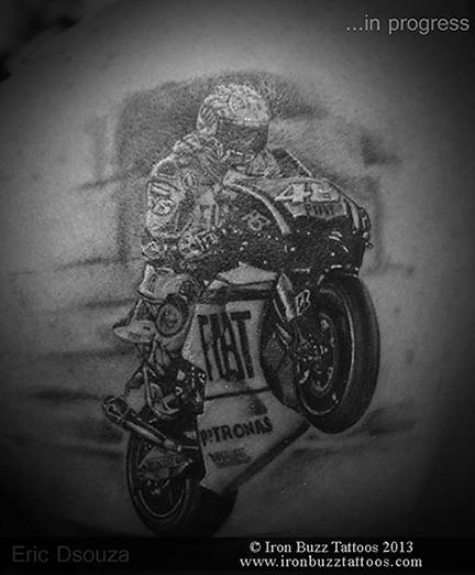 Valentino Rossi tattoo