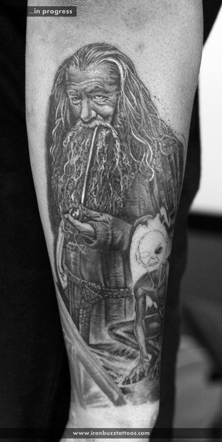Gandalf: Lord of the Rings tattoo