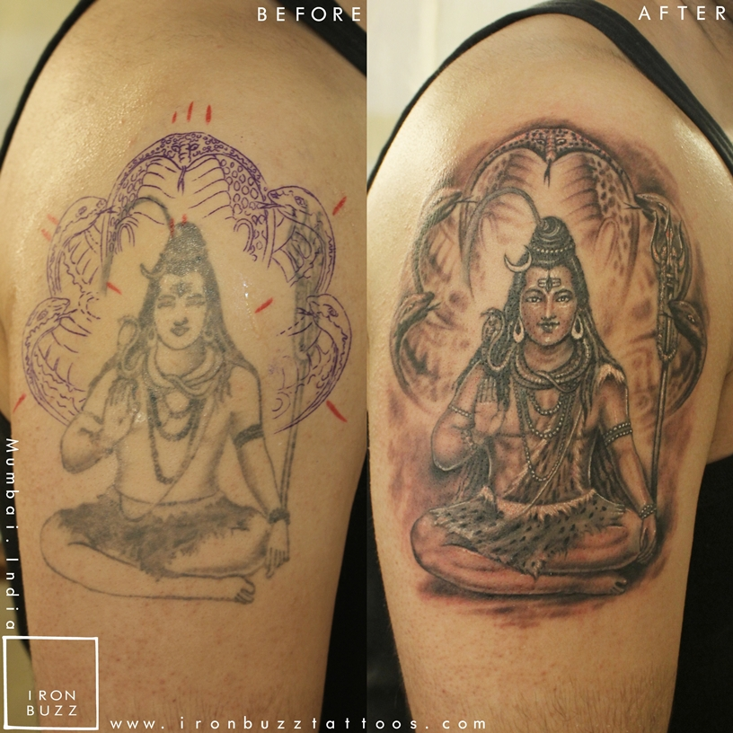 Best Lord Shiva / Mahadev Tattoos Done At Iron Buzz