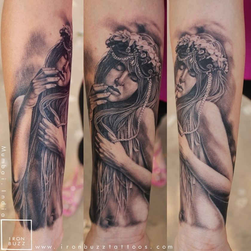 Wandering Girl tattoo at Iron Buzz