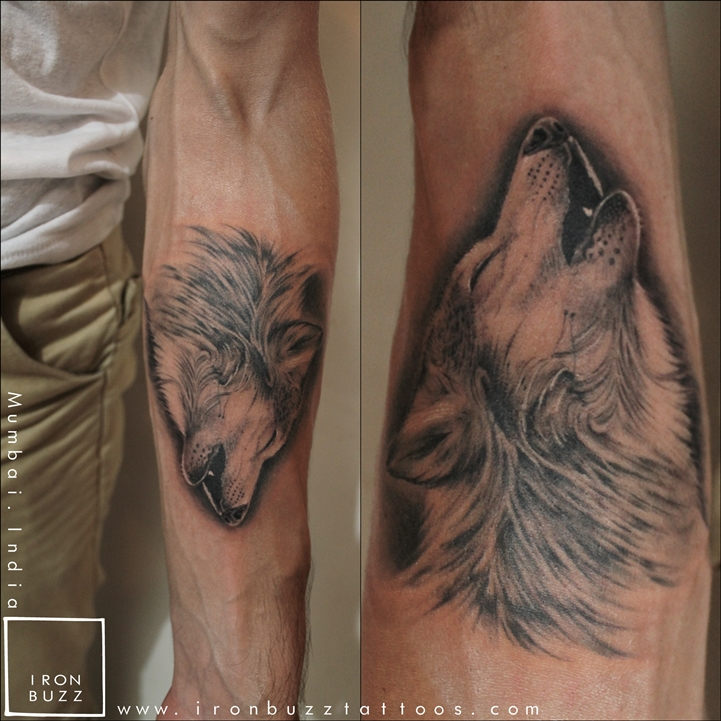 Howling Wolf Spirit Animal Tattoo