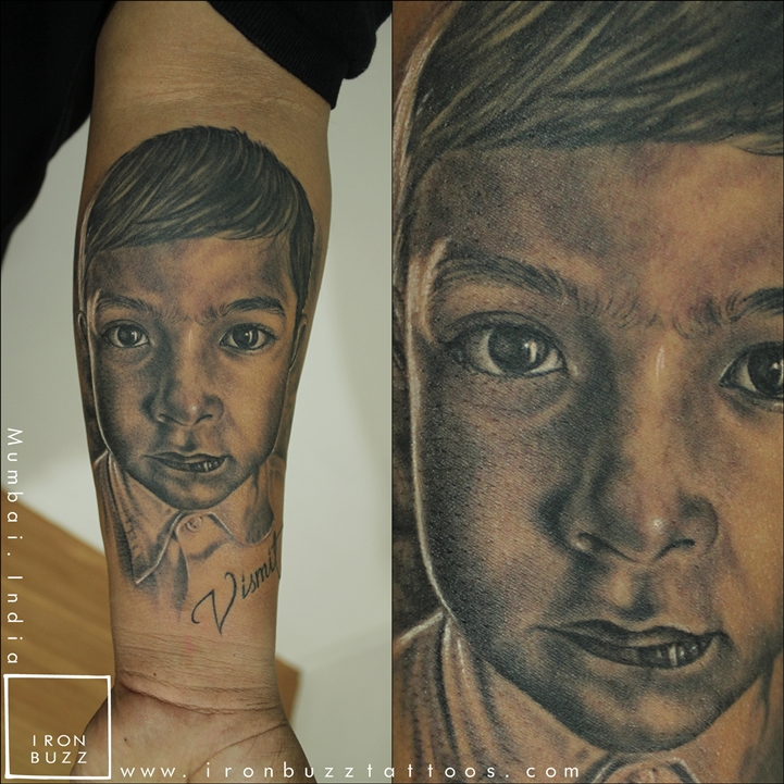 Amazing portrait of son by Iron Buzz