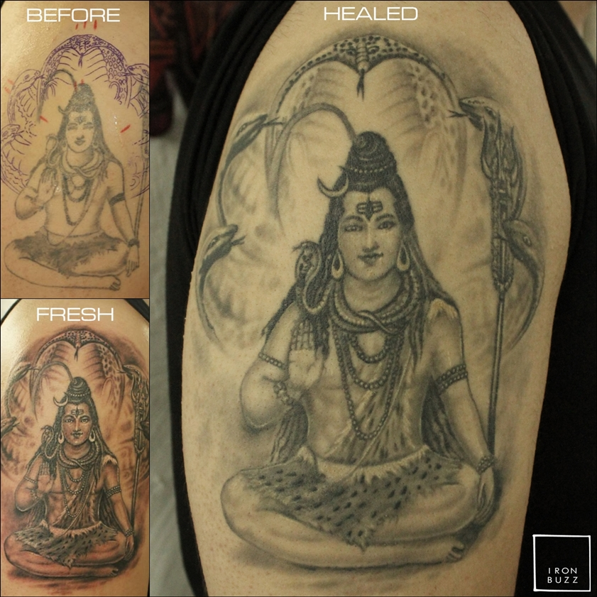 Healed Lord Shiva Tattoo