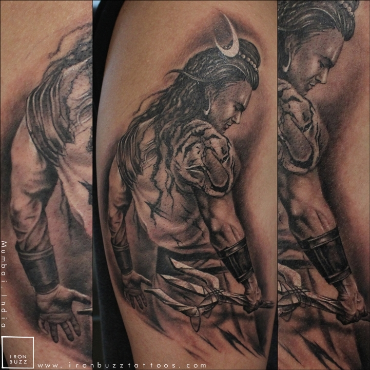 Best Tattoos Artist In India Iron Buzz: Lord Shiva Tattoo 'The Lord Is Back' Series By Eric Jason
