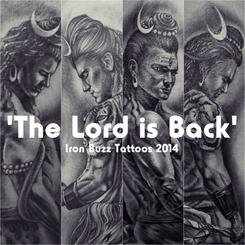 Best Lord Shiva Mahadev Tattoos Done At Iron Buzz: Lord Shiva Tattoo 'The Lord Is Back' Series By Eric Jason