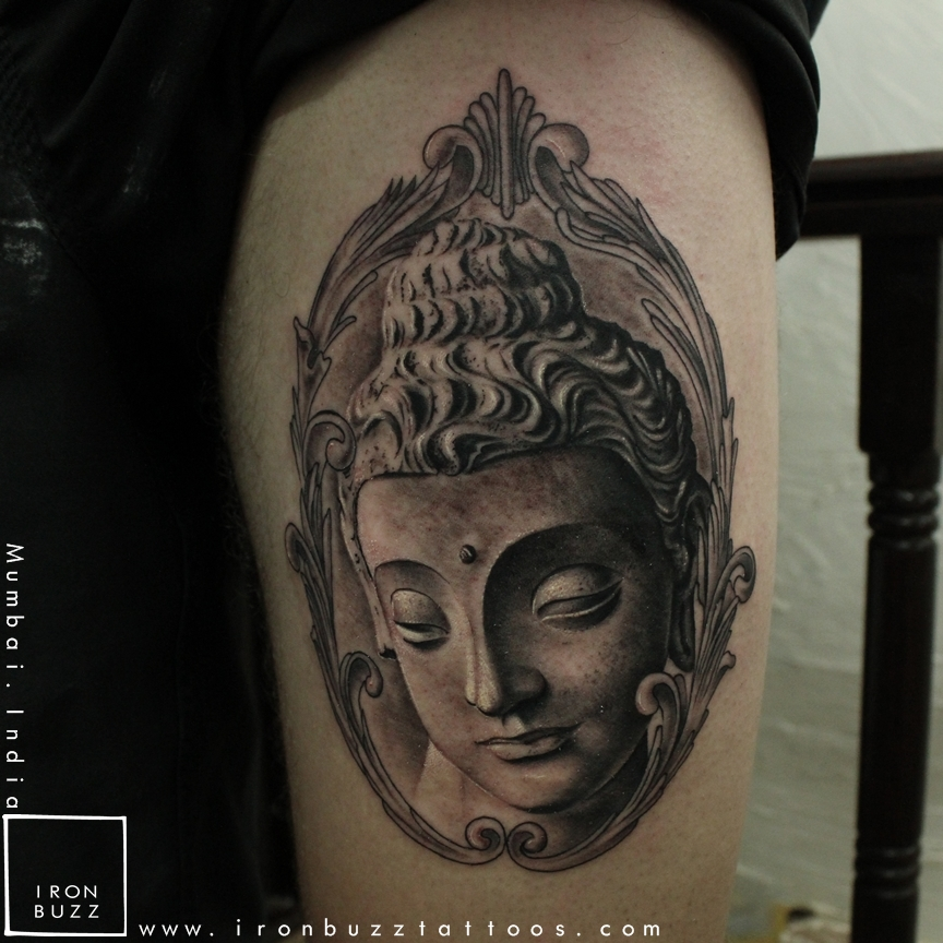 Gautama Buddha Tattoo at Iron Buzz Mumbai