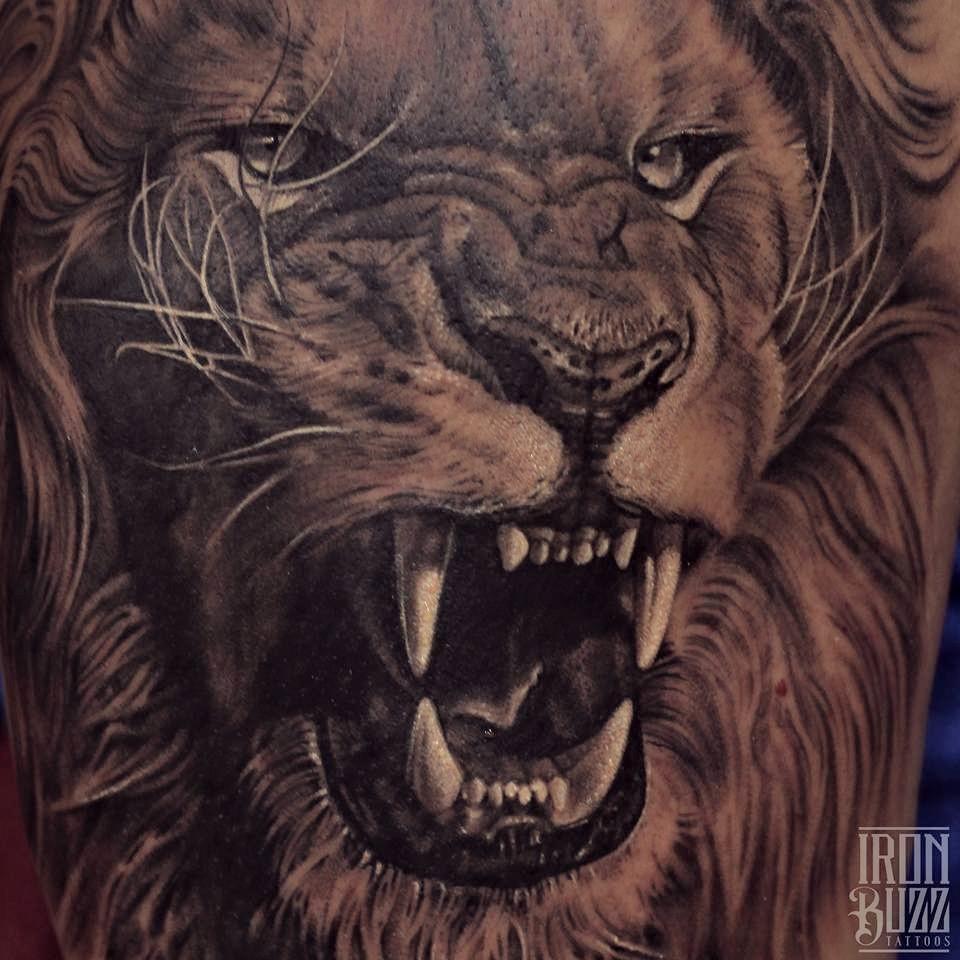 15 best animal tattoos done at iron buzz tattoos mumbai for Best realistic tattoo artists
