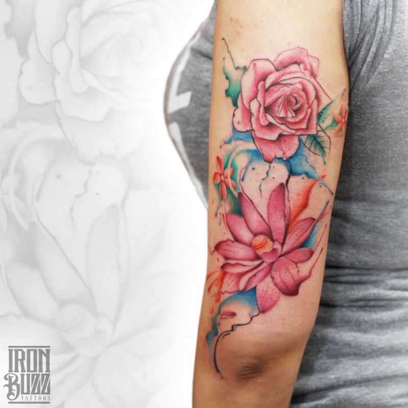 Best Tattoo Studio In Mumbai India: 15 Best Watercolour Tattoos Done At Iron Buzz Tattoos