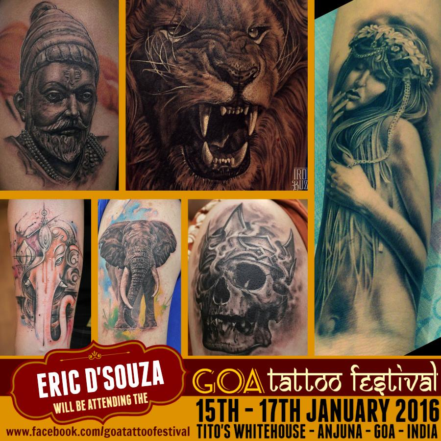 Iron Buzz Tattoos Andheri Mumbai: Gear Up For GOA TATTOO FESTIVAL 2016!!!