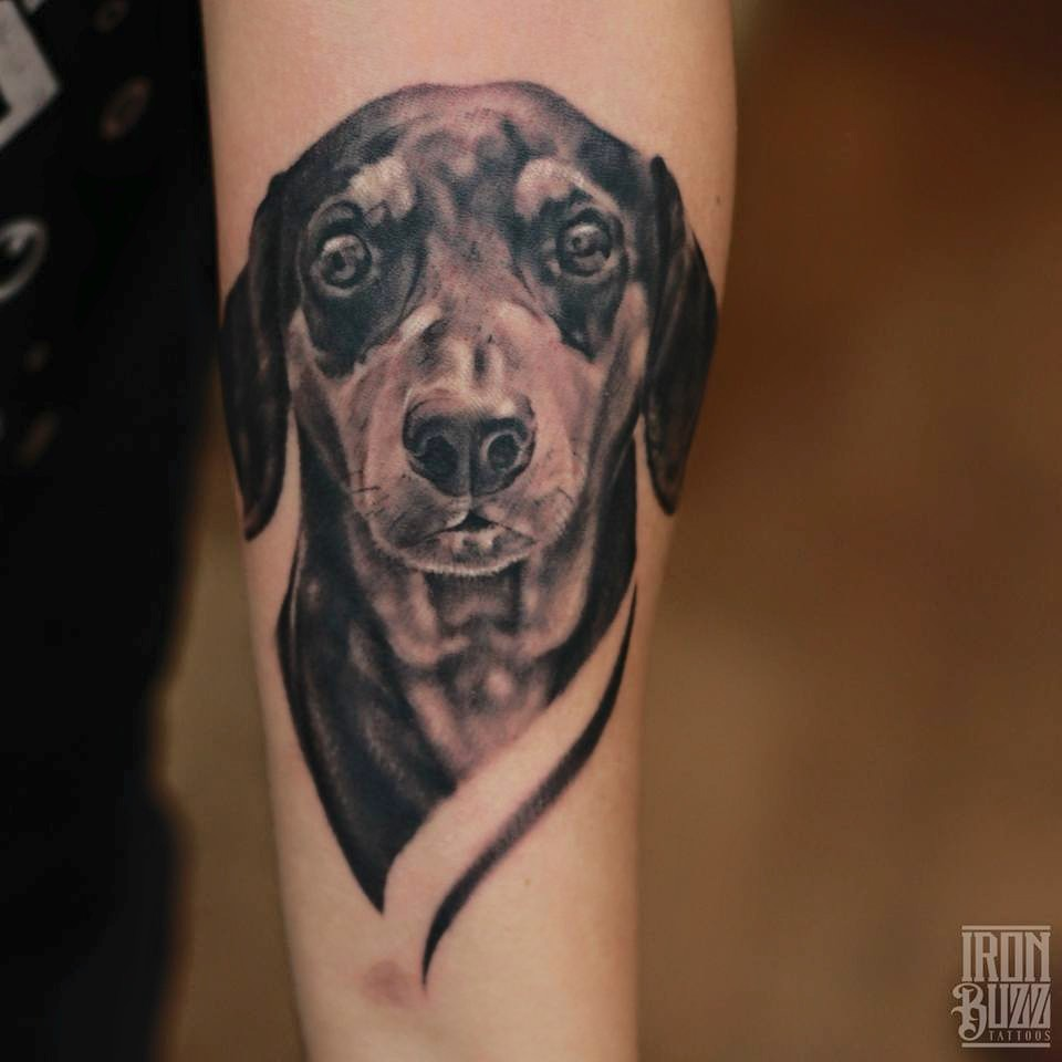 Dog Portrait Tattoo by Eric Jason D'souza