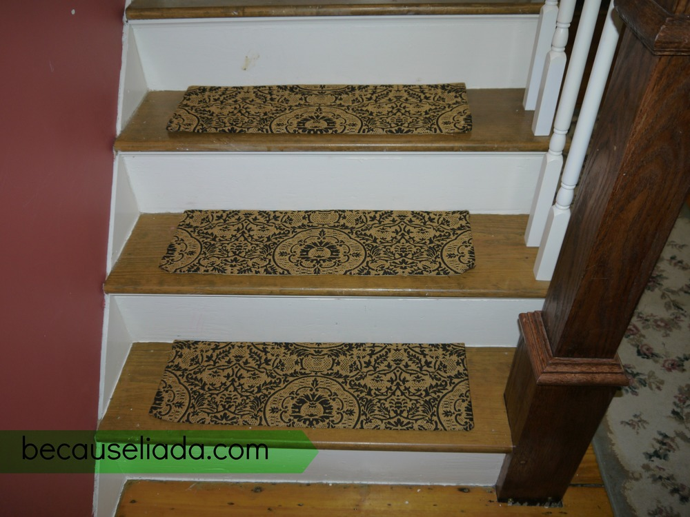 make your own carpet stair treads — because l.i.a.d.a.