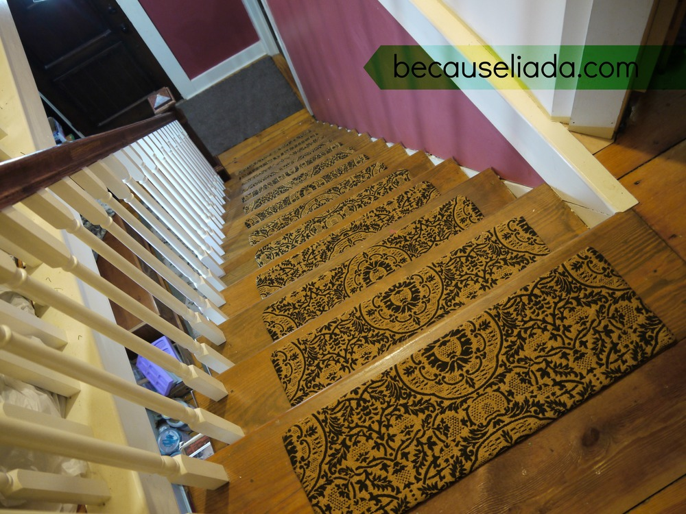 Rug That Looks Like Stairs Make Your Own Carpet Stair Treads Because L I A  D A
