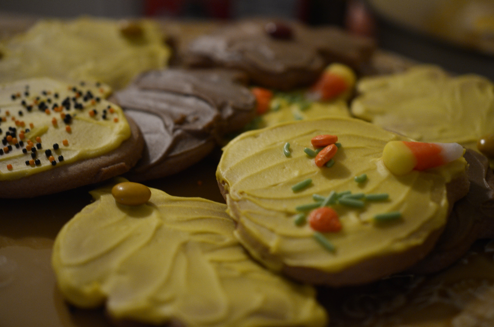 Delicious and beautiful fall cookies