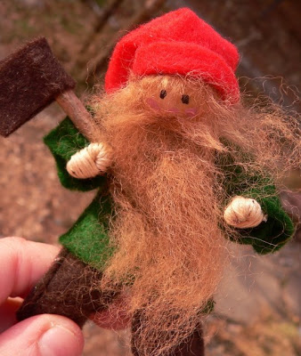 Tomte with ax (SOLD)