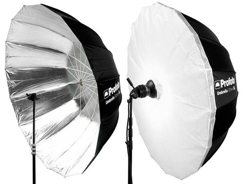 Profoto Umbrella XL Silver 165 cm med diffusor  Läs mer här