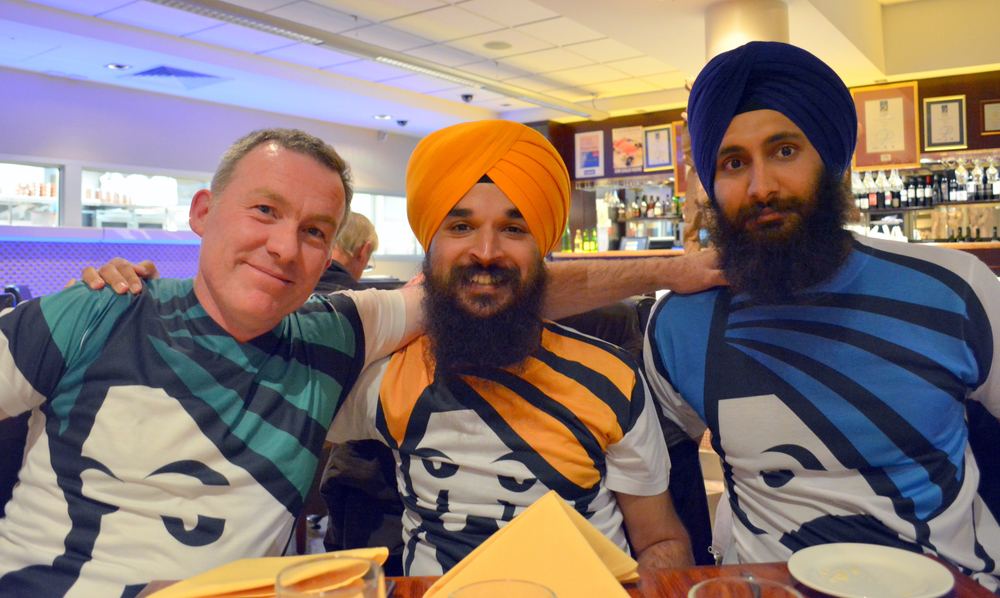 Left to Right:  Daniel Connell,  Harjit Singh, J  asdeep Singh