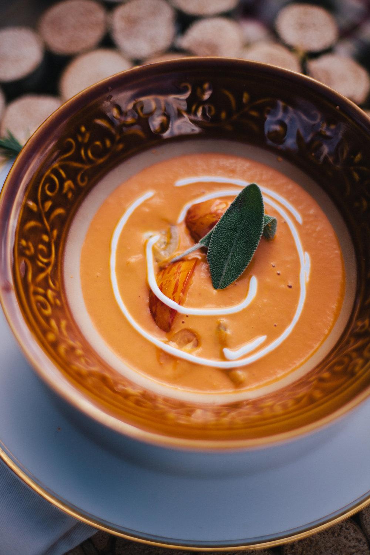 Tomato and sage soup