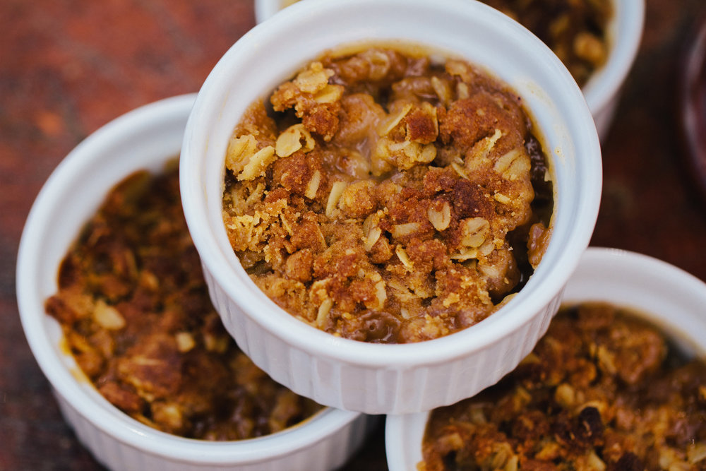 Mini-pear crumbles - Photo courtesy of Project Thursday / Echo Photography
