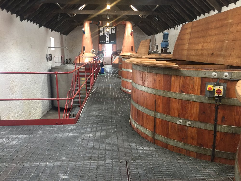 Inside Glengyle  Distillery