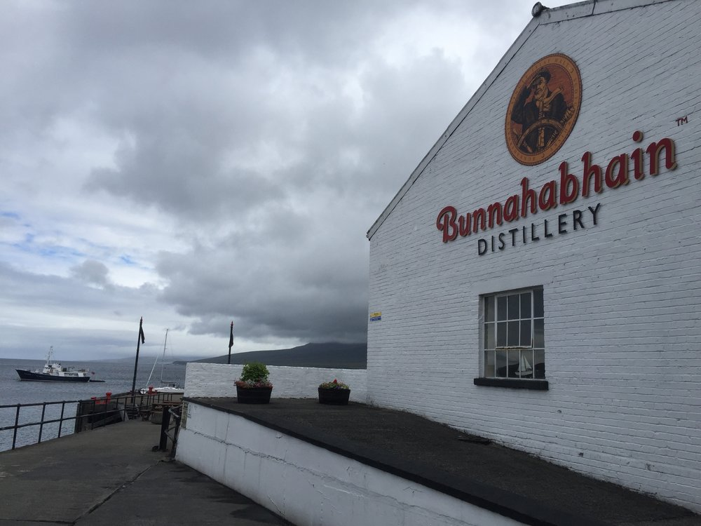 The View from Bunnahabhain Distillery
