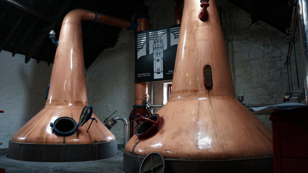Glengyle Distillery's Stills