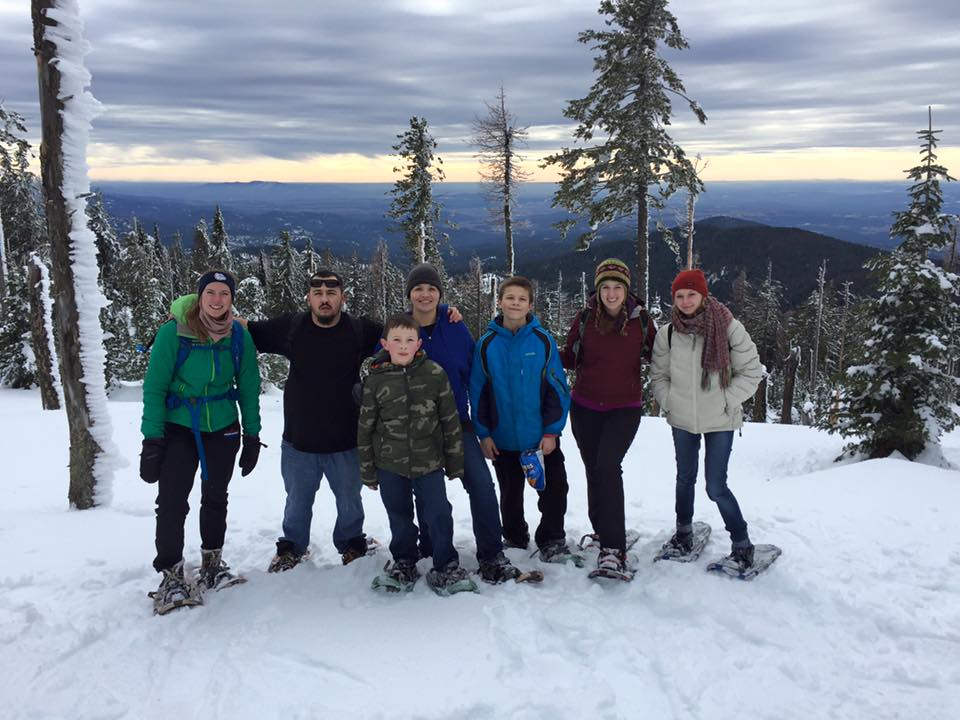 Residents participate in a fun Snowshoeing adventure!