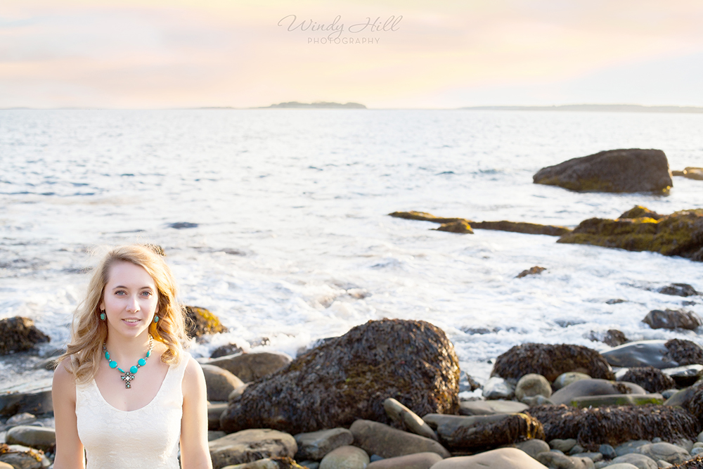 Maine Senior Photographer girl sunset beach.jpg