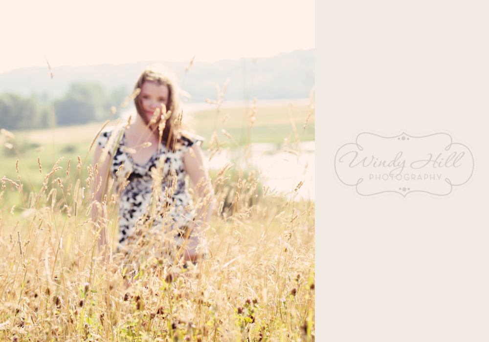 Maine senior photographer beautiful view golden grass hay field girl.jpg