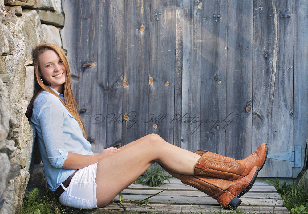 Maine Senior Photographer senior girl cowboy boots.jpg