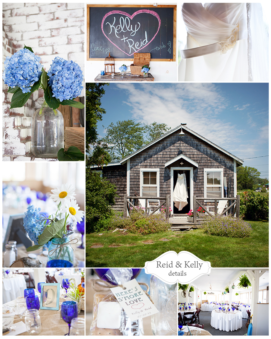Maine Wedding Photographer cottage details blue hydrangeas bradley inn.jpg