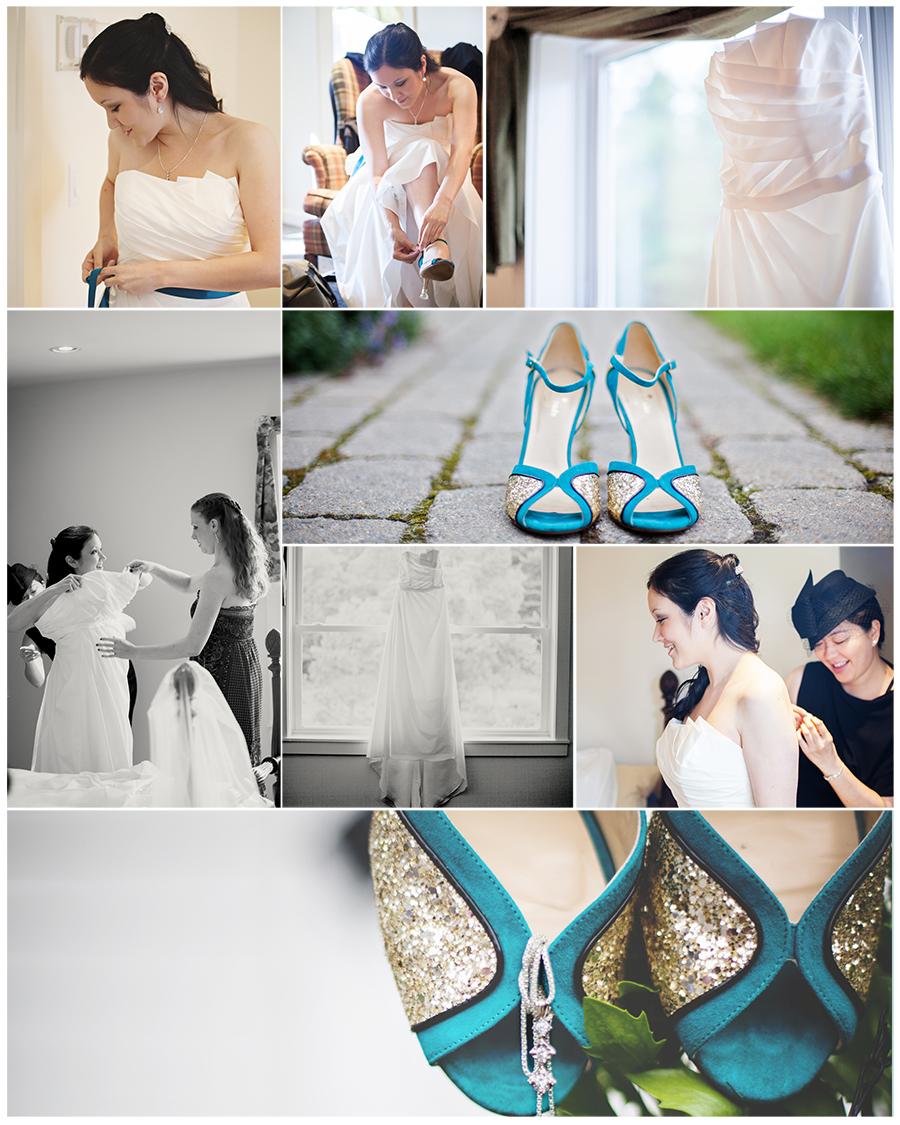 Maine Wedding Photographer 1812 farm turquoise shoes getting ready.jpg