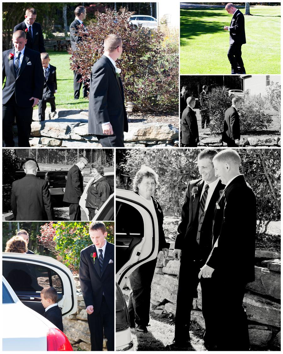 Maine Wedding Photographer groom limo Country Coach Charters.jpg