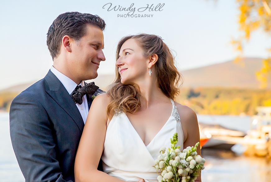 fall wedding new hampshire golden light