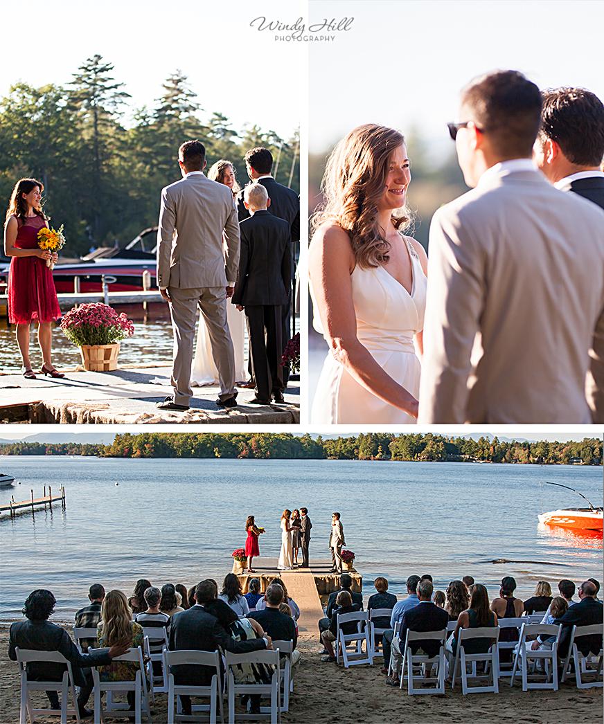 lakeside ceremony New Hampshire Wedding Photography