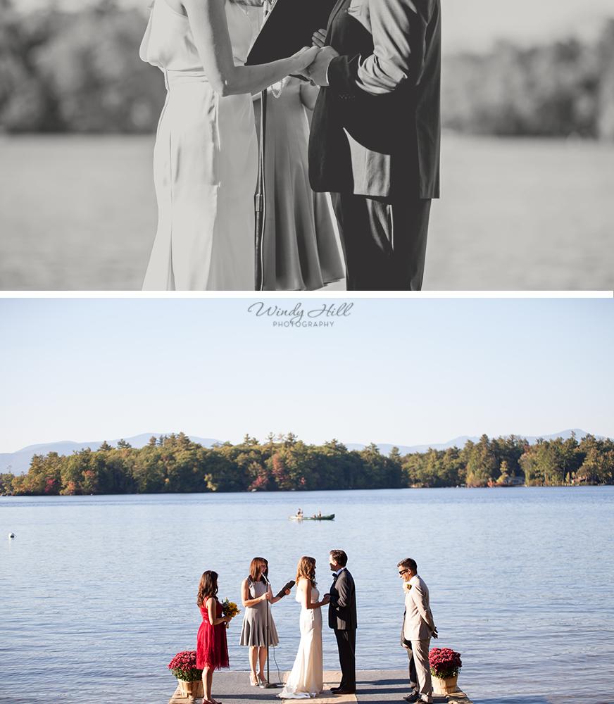 ring ceremony Maine wedding photographer