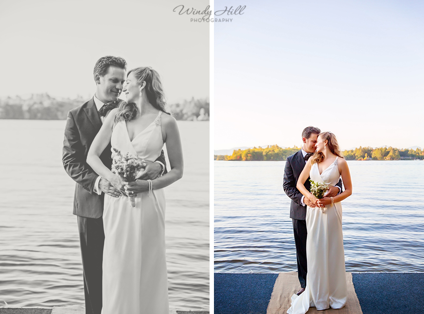 lakeside wedding portraits fall wedding