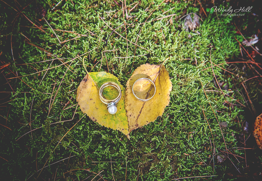 the rings fall leaves hearts maine wedding photographer