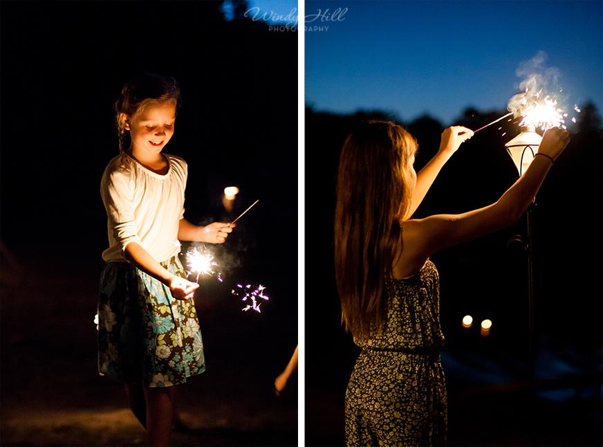 sparklers wedding night Maine wedding Photographer