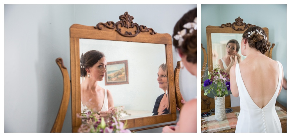 Maine Wedding Photographer getting ready bride