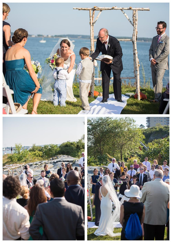 Maine Wedding Photographers ring bearers ceremony