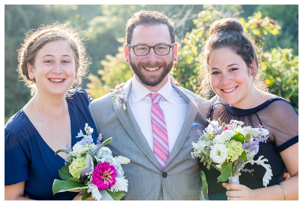maine Wedding Photography groom and siblings