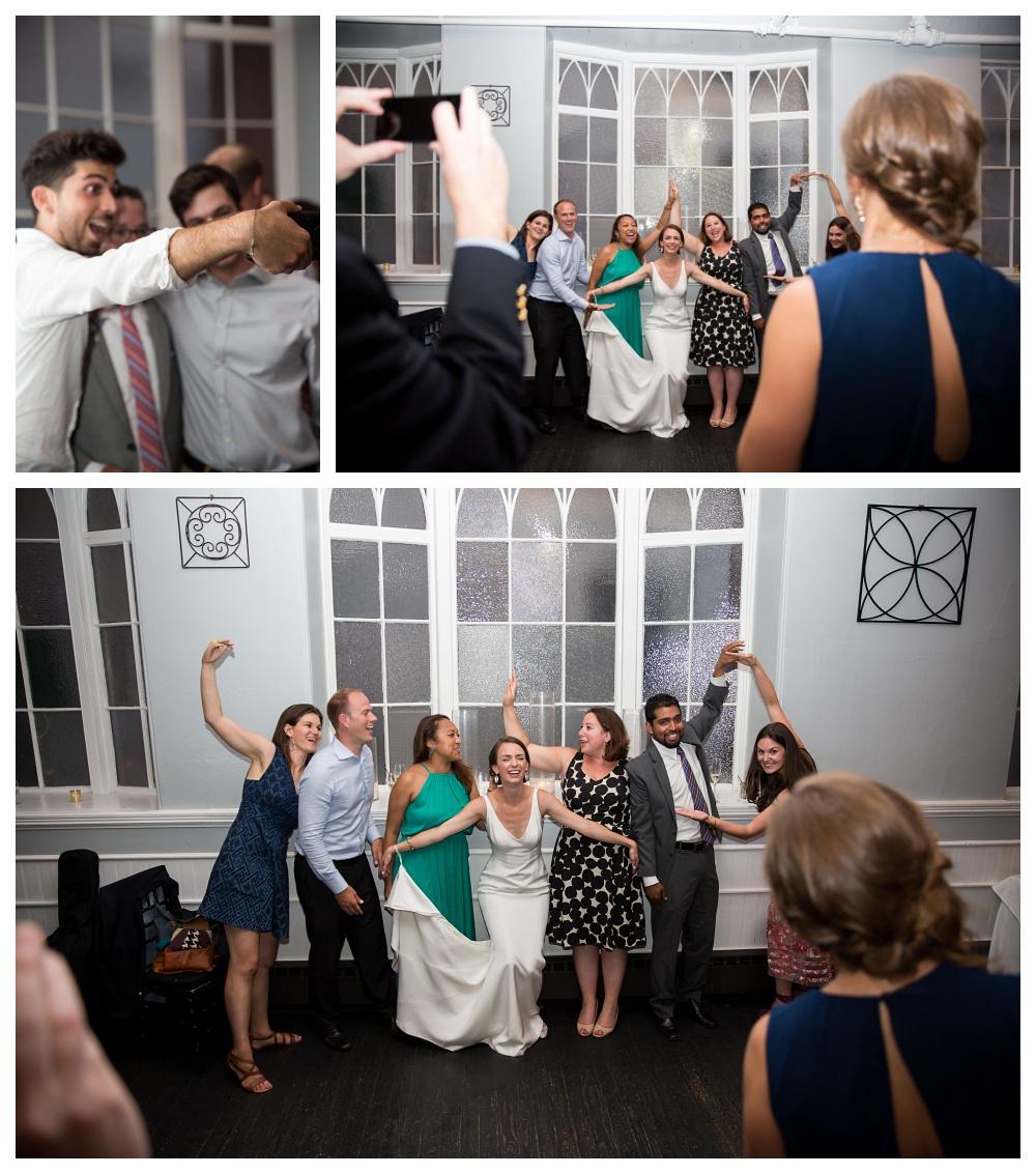 Maine Wedding Photographer reception selfies